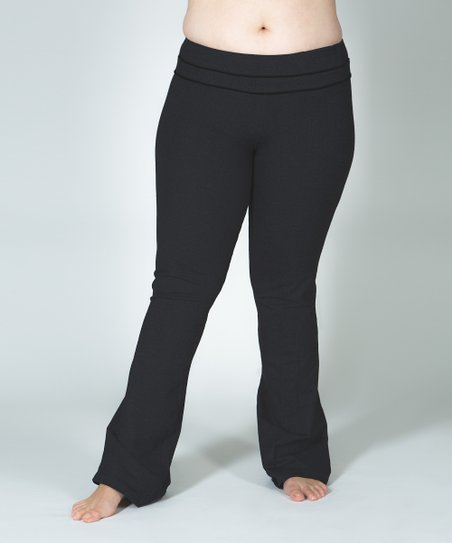 Black Plus-Size Yoga Pants
