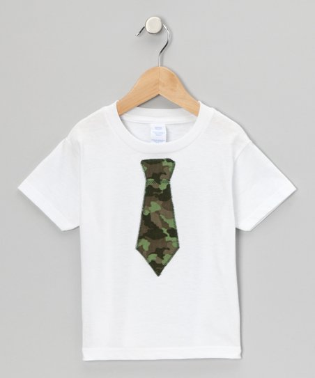 White Camouflage Tie Tee - Infant, Toddler & Kids