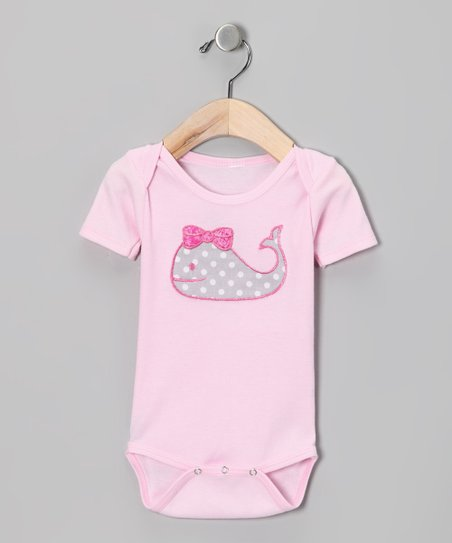 Light Pink Whale Bodysuit - Infant