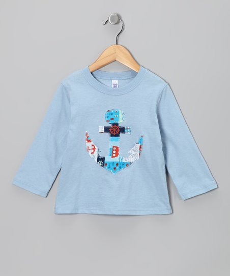 Light Blue Anchor Tee - Infant & Toddler