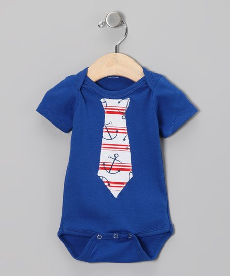 Royal Anchor Tie Bodysuit - Infant