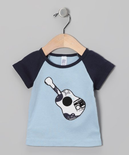 Blue Guitar Raglan Tee - Infant