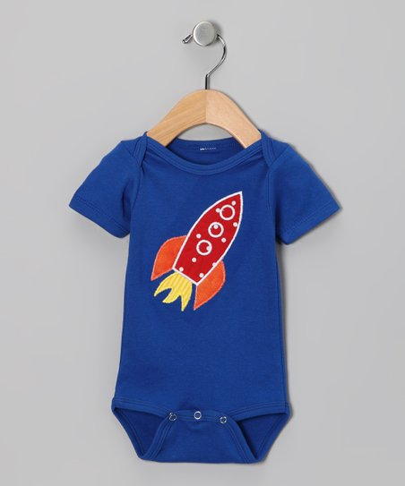 Royal Rocket Ship Bodysuit - Infant