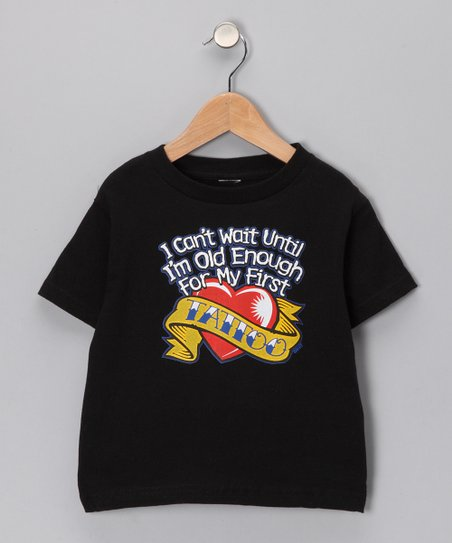 Black 'My First Tattoo' Tee - Toddler & Kids