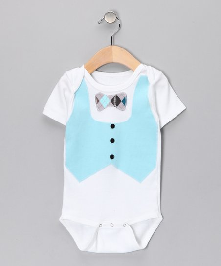 White Vest & Bow Tie Bodysuit - Infant