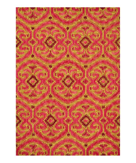 Gold & Berry Milano Wool Rug