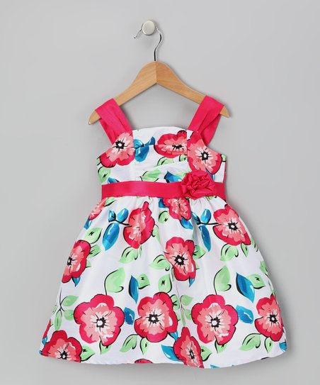Pink & Blue Floral Dress - Infant