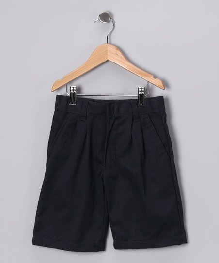 Navy Pleated Shorts - Boys