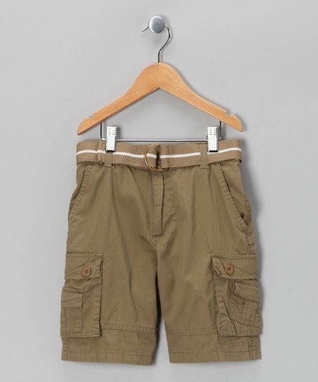 Dark Khaki American Hawk Shorts - Boys