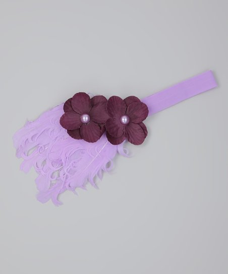 Purple Feather Headband