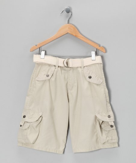 Stone Snap Pocket Cargo Shorts - Boys