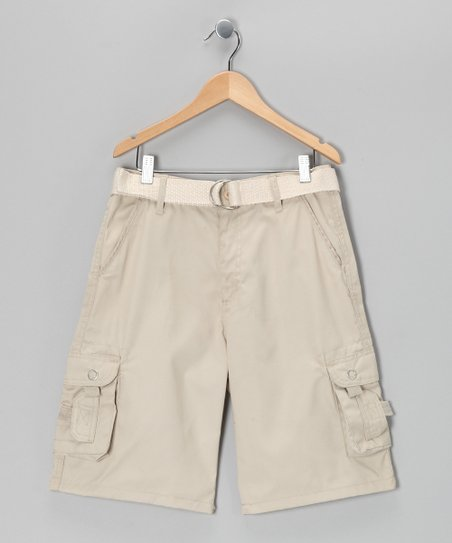 Stone Double Pocket Cargo Shorts - Boys