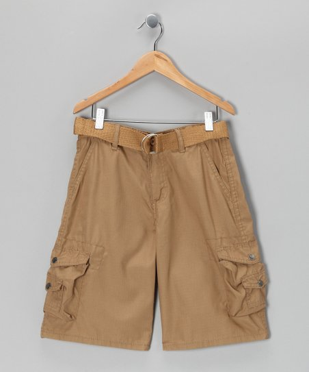 Khaki Cargo Shorts - Boys