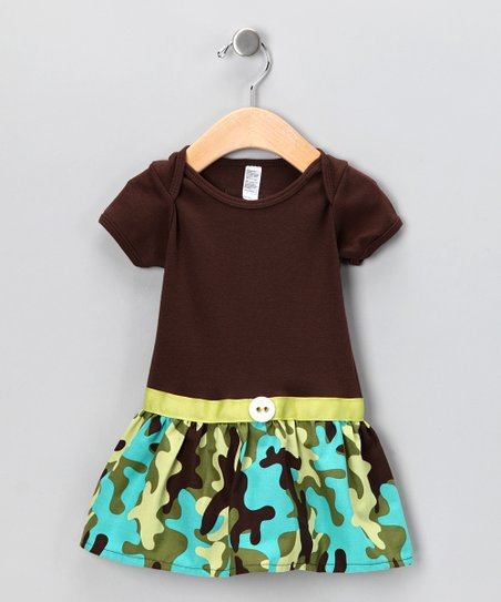 Brown Camo Skirted Bodysuit - Infant