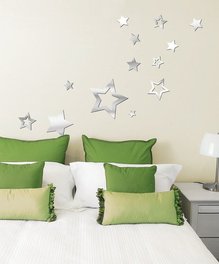 Mirror Stars Acrylic Wall Decal Set