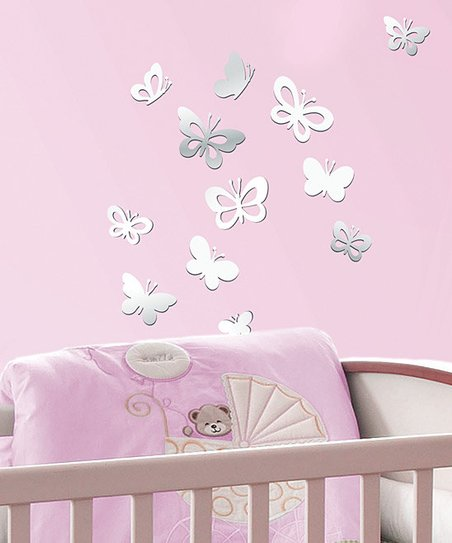 Sweet Butterflies Acrylic Wall Decal Set