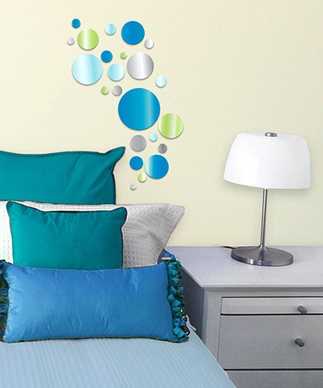 Blue Dot Acrylic Wall Decal Set