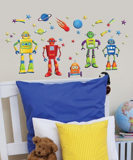 GlowPuff Robots Wall Decal Set