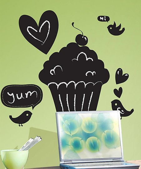 Cupcake Chalkboard Wall Decal Set