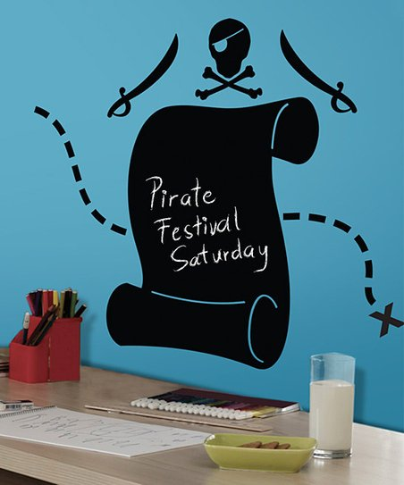 Pirate Scroll Chalkboard Wall Decal Set