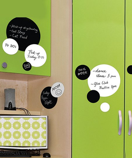 Chalkboard & Dry-Erase Dot Wall Decal Set