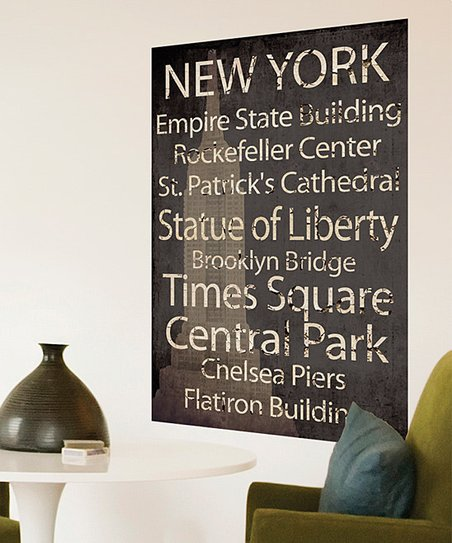 &#039;New York&#039; Landmark Canvas Art