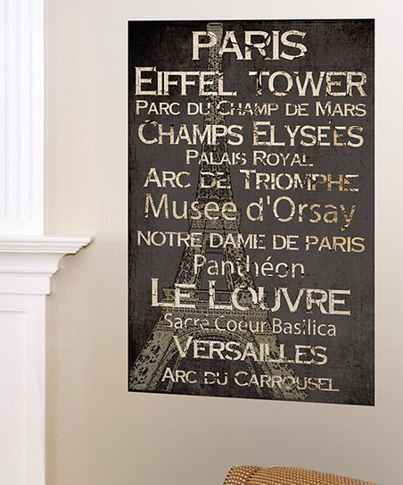 &#039;Paris&#039; Landmark Canvas Art