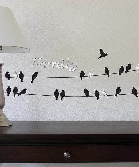 Family Birds on a Wire Wall Decal Set