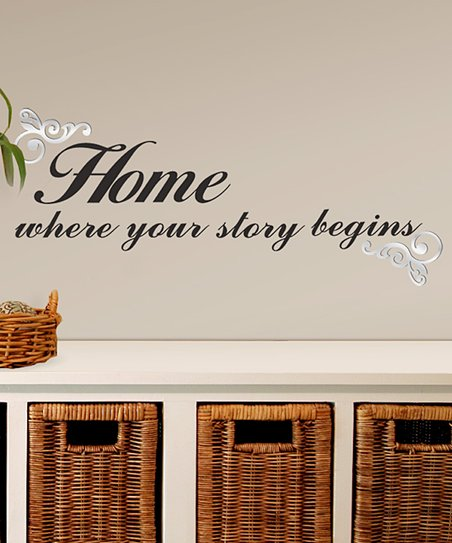 'Where Your Story Begins' Wall Decal Set
