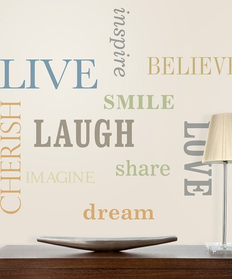 Big Words Wall Decal Set
