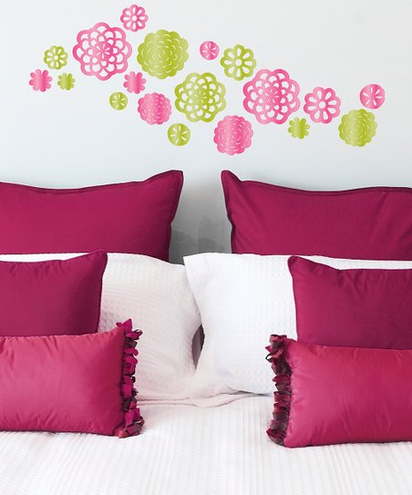 Mirrored Garden Bloom Wall Decal Set