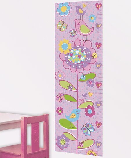 Purple Tweet Tweet Growth Chart Wall Decal
