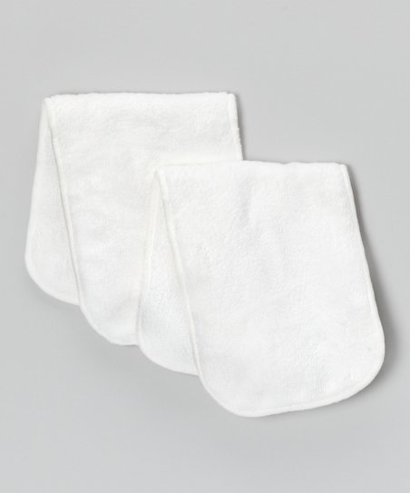 White Pocket Diaper Insert - Set of Two