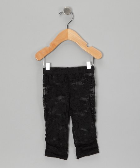 Black Lace Leggings - Infant