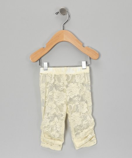 Cream Lace Leggings - Infant & Girls