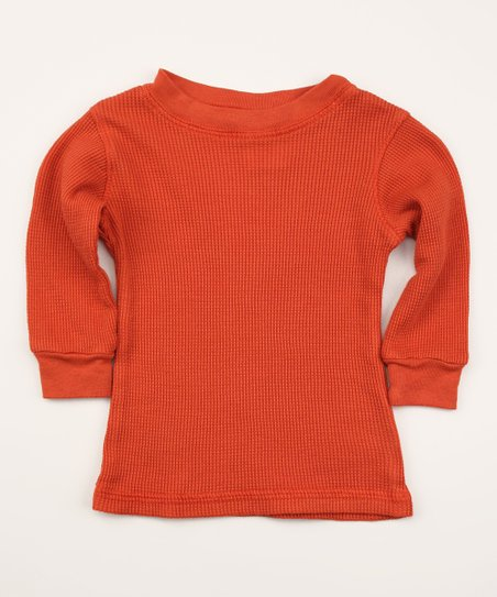 Smokey Red Organic Thermal - Infant