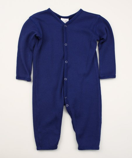 Astro Blues Thermal Organic Playsuit - Infant