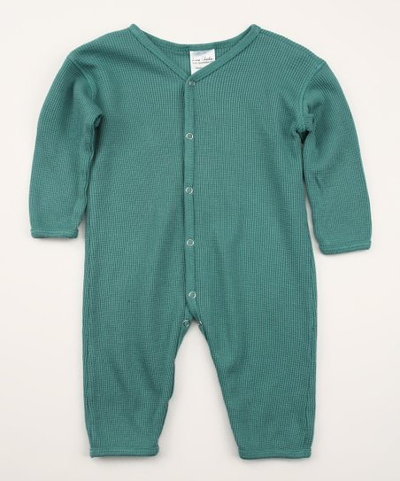 Emerald Green Organic Thermal Playsuit