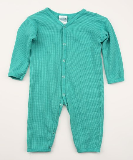 Horizon Blue Organic Thermal Playsuit