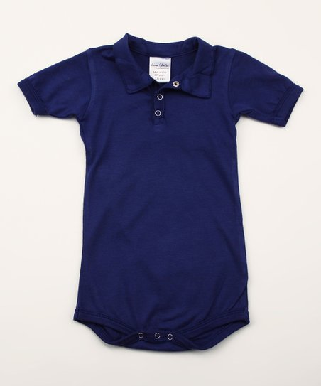 Astro Blues Organic Polo Bodysuit - Infant