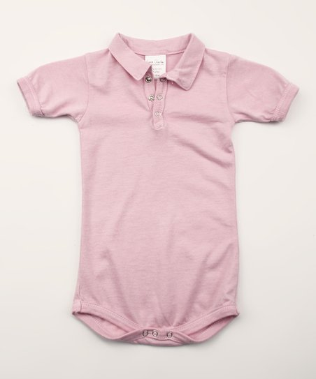 Spicy Pink Organic Polo Bodysuit