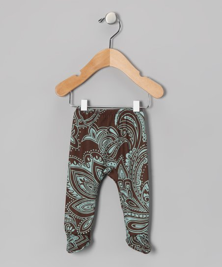 Abby Paisley Footie Pants