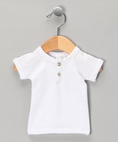 White Henley - Infant
