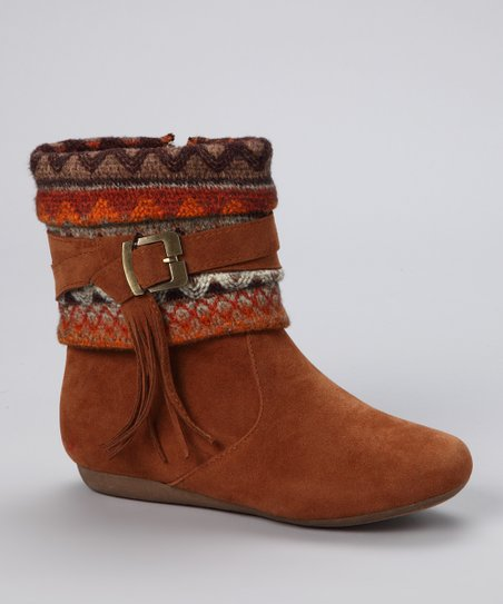 Lucky Top Tan Buckle Bank Boot
