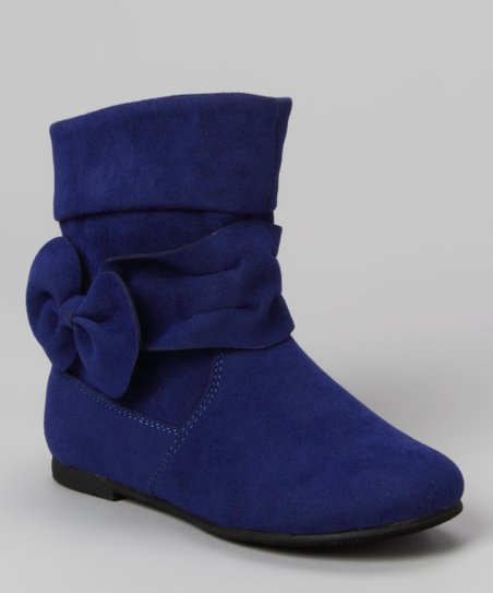 Blue Post Bow Boot