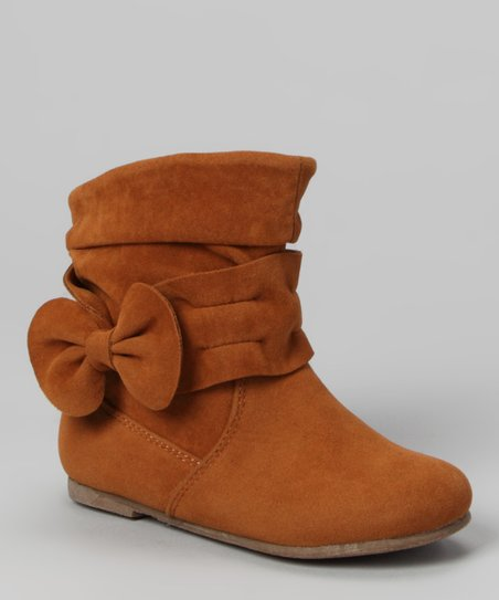 Tan Post Bow Boot
