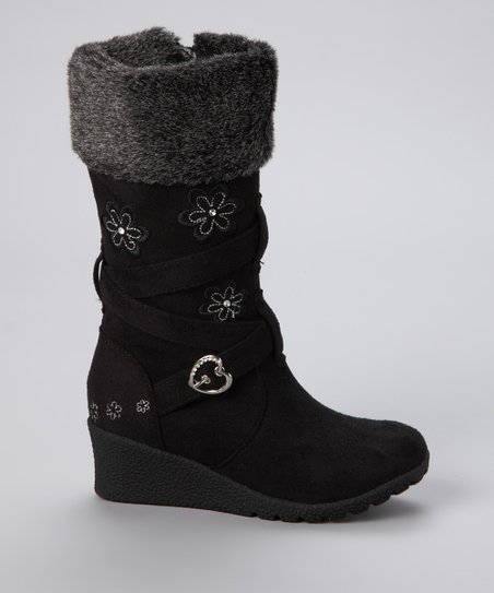 Black Floral Pure Boot