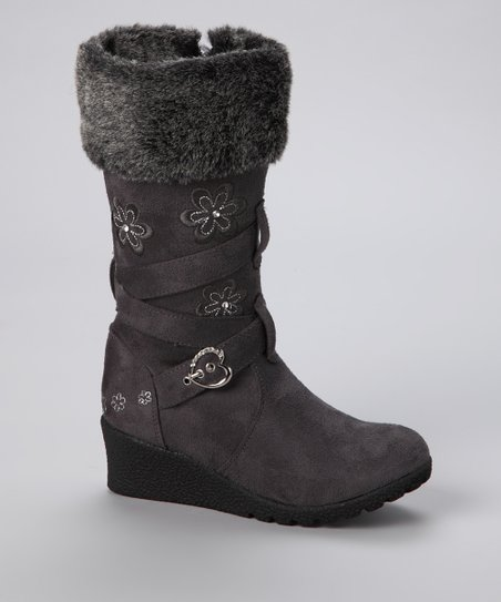 Gray Floral Pure Boot