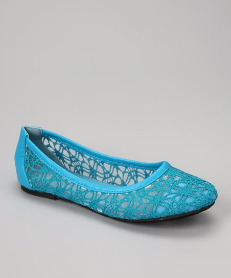 Teal Crocheted Flat
