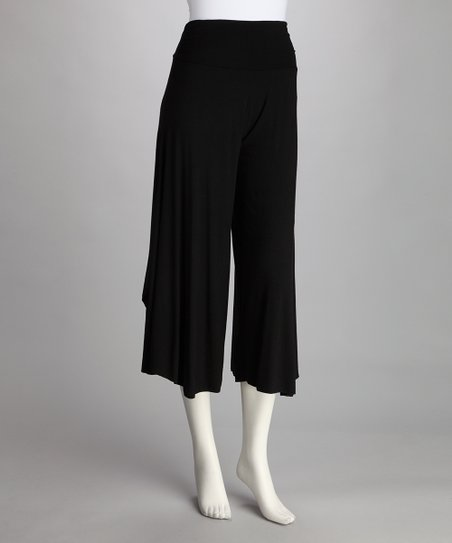 Luna Claire Black Gaucho Pants
